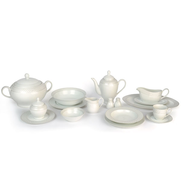 TFK 98pcs Porcelain Set - Platinum
