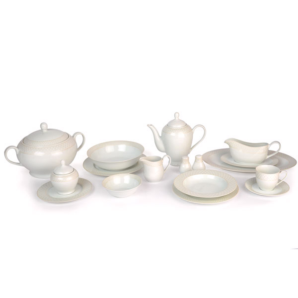 TFK 98pcs Porcelain Set - Gold